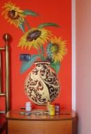 vaso con girasoli dipinto da Anila D.Ciccone