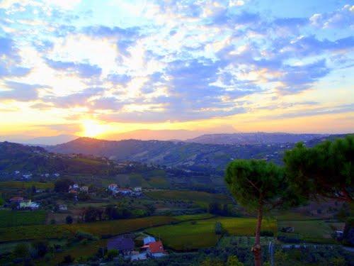 Il tramonto visto dal B&B Villa Ciccone