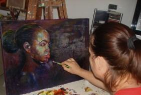 mentre dipingo