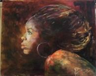 profilo di donna Africana