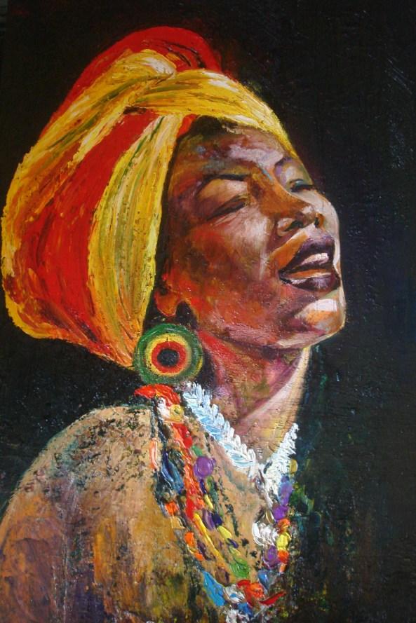 ritratto ad olio. Fatoumata Diawara
