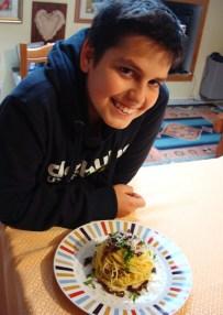 il piatto preferito di mio figlio