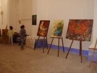 allestimento mostra col artisti d'Abruzzo Villamagna 12-20 Luglio