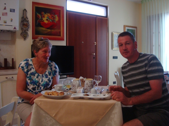 Il buon giorno di David e sua moglie. I nostri amici della Scozia
